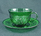 Sandwich Forest Green Cup & Saucer Set