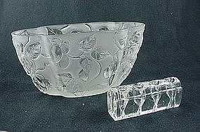 Consolidated Glass Olives Vase - French Crystal