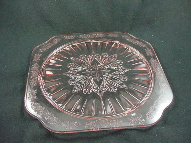 Adam Footed Cake Plate - Pink