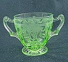Cameo Sugar Bowl - Green