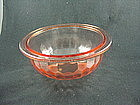 Hex Optic 8 Inch Flat Rimmed Mixing Bowl - Pink