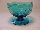 Morgantown Crinkle Sherbet - Peacock Blue