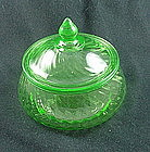 Spiral Low Candy Jar & Cover - Green