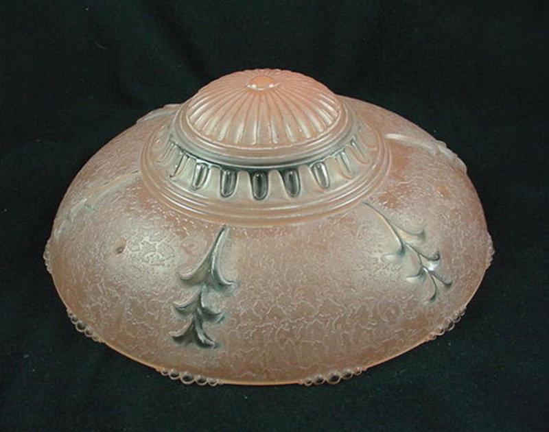 Bead Chain Ceiling Shade & Fixture -  Dark Pink Marble