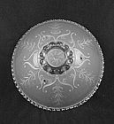Bead Chain Ceiling Shade & Fixture - Fern & Snowflake