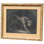 "Rare 1790 ""A Tiger"" mezzotint print after painting of James Northcote (1746 -1831) British artist"