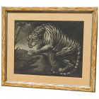"""Rare 1799 """"Tiger & Crocodile"""" mezzotint and etching after James Northcote (1746 -1831) British artist"""