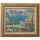 Antonio Sereix Codina  (1931 - 2009) Spanish listed artist original colorful impressionist oil painting 1976