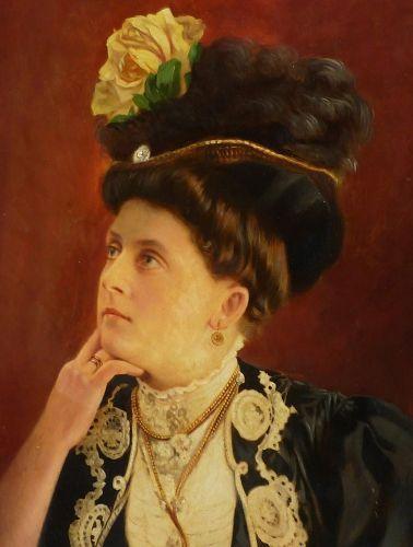 Arthur Fischer (1872 - 1948) German artist oil painting portrait of a woman