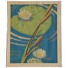 Chaille serigraph of lilies in a pond