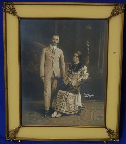 Early 20th century original framed photo by important Chicago photo studio DeHaven