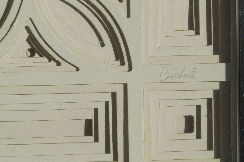 Greg Copeland Mid Century paper wall sculpture mandalas artwork signed 1973