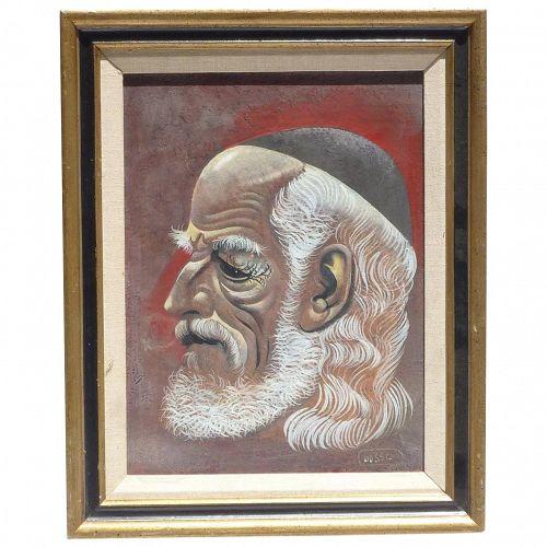Leon Dusso  d'Usseau (1918 - 1991) portrait oil painting by listed American  California artist