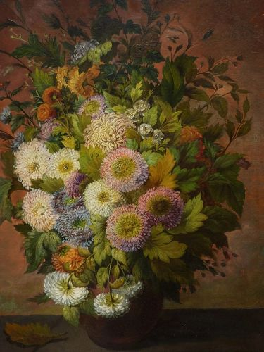 Nineteen century fine still life painting by German- American artist P. Dieffenbach
