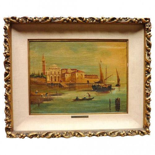 Painting of Venice scene in style of old master Francesco Guardi