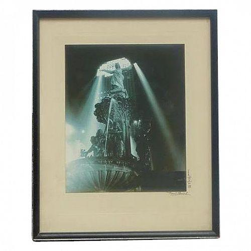 Paul Auguste Briol (1889 - 1969) Ohio Cincinnati Photographer Tyler Davidson Fountain Original Photograph Signed