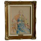 Vasiliy Panfilovich KURMANAEVSKI (1894-1960) pastel drawing of Russian lady