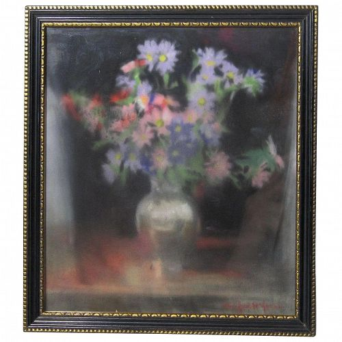 Winifred E. Harris Jones English California artist still life pastel painting