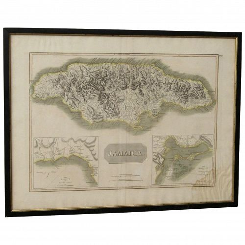 Jamaica 1817 The Harbors of Bluefields John Thomson old 19th century map