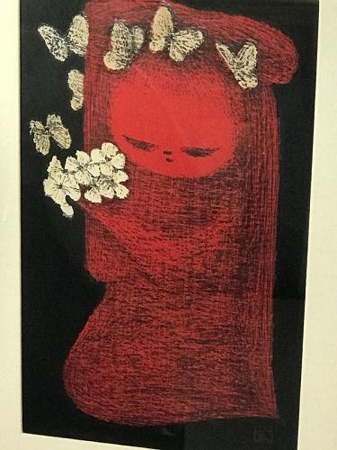 Kiyoshi Saito Japanese Artist Signed Woodblock Print Girl