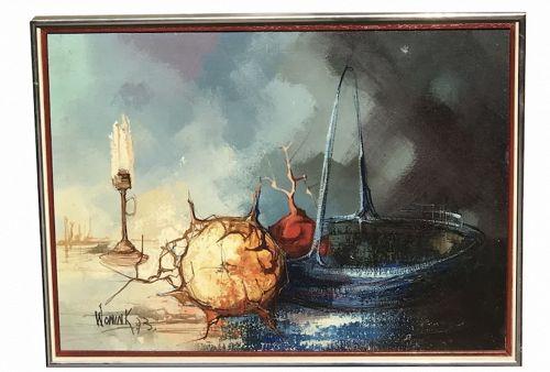 A. Wonink  Surrealist still life painting