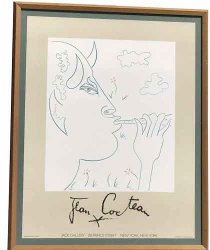 "Jean Cocteau 1977 ""Faun""  exhibition poster"