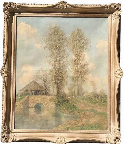 Marcel-Adolphe Bain (1878-1937) Oil landscape painting
