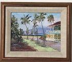 Betty Hay Freeland of Pioneer Inn Hotel, Lahaina, Hawaii painting
