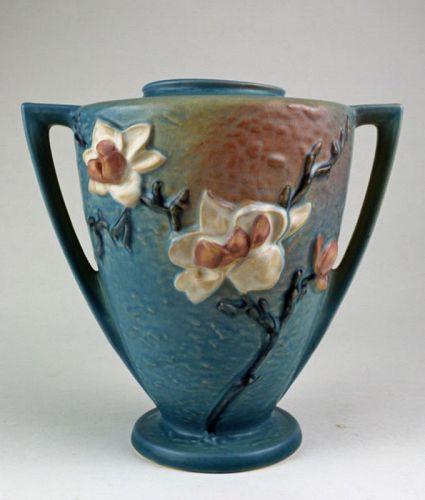 Roseville Magnolia Amphora Vase