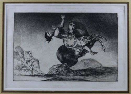 Woman Seized, Goya