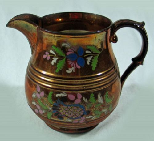 Copper Luster Pitcher
