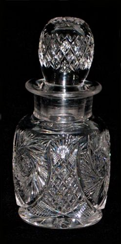 Cut Glass Jar with Stopper or Cologne