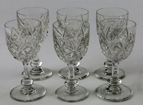 Baccarat Crystal Cordial Glasses (6)