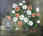 Daisies and Poppies Still Life