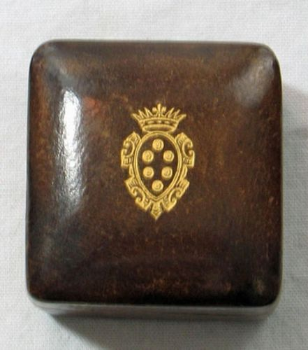Fine Italian Leather Box (Brown)