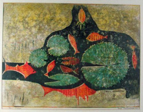 Fishes (Bruce Onobrakpeya)