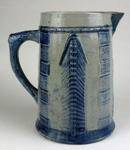 Flatiron Building Salt Glaze Stoneware Pitcher