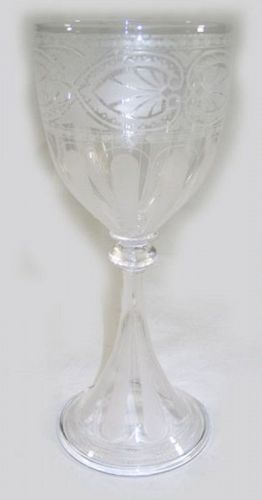 Frosted Goblet with Anthemion Motif