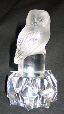 Lalique Owl Sculpture