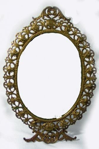 Ornate Brass Framed Mirror