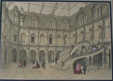 Palace Courtyard - Lithograph