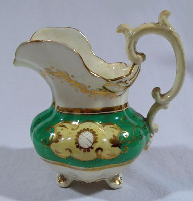 Staffordshire Creamer in Apple Green