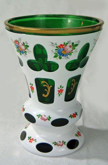 Antiques Decorative Art Glass Bohemian Trocadero