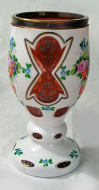 Bohemian Case Glass Vase
