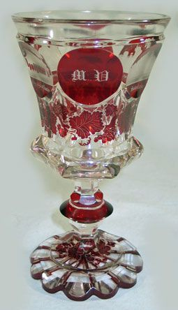 Bohemian Glass Goblet