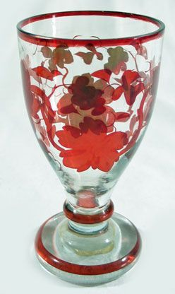 Bohemian Ruby Flashed Ale Glass