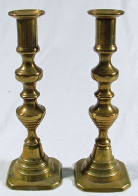 Brass Candlesticks, pair