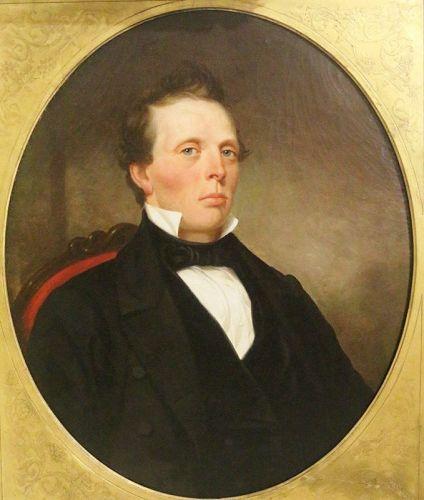 Portrait of Gentleman, Oil on Canvas, 19th C.