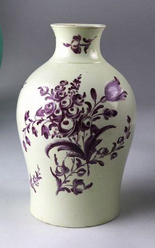 English Creamware Vase