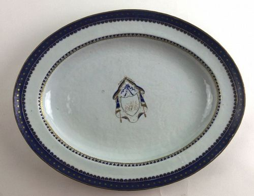 Chinese Export Porcelain Armorial Platter, 18th C